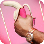 Аватар Розовый банан в мужской руке