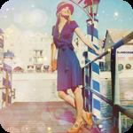 Аватар Девушка в шляпе стоит на мосту