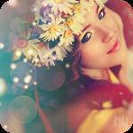 Аватар Красивая девушка в венке из ромашек