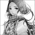 Аватар Девушка с шарфом на шее
