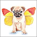 Аватар Мопс с крыльями бабочки