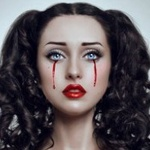 Аватар Девушка с кровавыми слезами