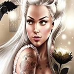 Аватар Нежный образ девушки с татуировками, Иллюстрация Тати Феррино / Tati Ferigno