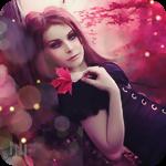 Аватар Девушка держит красный кленовый лист