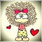 Аватар Нервная девочка в окружении сердечек