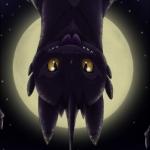 Аватар Дракон на фоне луны / Dragon из мультфильма Как приручить дракона / How to Train Your Dragon