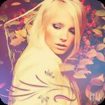 Аватар Девушка-блондинка среди осенних листьев