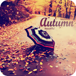 Аватар Разноцветный зонт на аллее осеннего парка (Autumn / Осень)