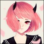 Аватар Плачущая девушка-демон с розовыми волосами