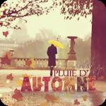Аватар Девушка с желтым зонтом идет по городу (Pluie dautomne (фр) / Осенний дождь)