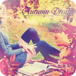 Аватар Девушка сидит в осеннем парке, рядом раскрытая книга (Autumn dreams / Осенние мечты)