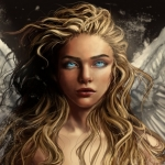 Аватар Голубоглазая девушка блондинка