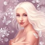 Аватар Красивая девушка с бабочками