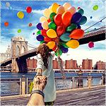 Аватар Модель Наталья Захарова, держит за руку фотографа Мурада Османна, серия фотография Следуй за мной. США, Нью-Йорк Бруклинский мост