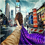 Аватар Модель Наталья Захарова, держит за руку фотографа Мурада Османна, серия фотография Следуй за мной. Нью-Йорк, США