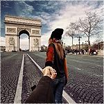 Аватар Модель Наталья Захарова, держит за руку фотографа Мурада Османна, серия фотография Следуй за мной. Франция, Париж Триумфальная арка