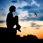 Аватар Cилуэт девушки на фоне облачного неба, фотограф Виноградова Александра