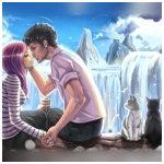 Аватар Влюбленные парень с девушкой и котята рядом