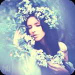 Аватар Девушка в венке у цветущего дерева