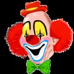 Аватар Рыжий клоун в красной шляпке и с зеленой бабочкой