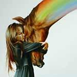 Аватар Девочка и радужная лошадь