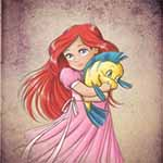 Аватар Ariel / Ариэль и Flounder / Флаундер из мультика The Little Mermaid / Русалочка