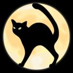 Аватар Черный кот в круге