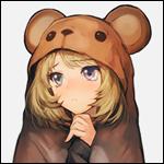 Аватар Kaede Takagaki / Каэдэ Такагаки из аниме The iDOLM@STER Cinderella Girls / Идолмастер: Девушки-золушки в костюме медведя