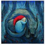 Аватар Девочка и волк спят рядом