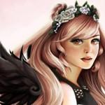 Аватар Девушка-ангел в венке из цветков