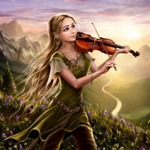 Аватар Девушка - эльф играет на скрипке