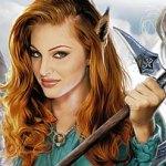 Аватар Девушка-эльфийка держит в руках кирку