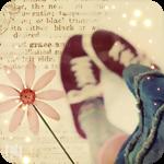 Аватар Нежный цветок на фоне ног девушки, обутых в кеды