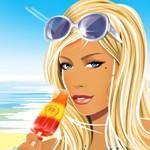 Аватар Девушка с солнечными очками ест мороженое