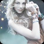 Аватар Девушка с браслетами на руках поднесла к лицу ветку с маленькими белыми цветами