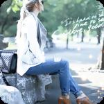 Аватар Девушка, сидящая в парке