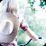 Аватар Девушка с соломенной шляпой и велосипедом (spring / весна)