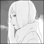 Аватар Длинноволосая девушка в профиль
