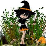 Аватар Кукла в хеллоуинском костюме ведьмы