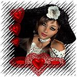Аватар Девушка с бутоном белого цветка в волосах