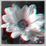 Аватар Белый цветок, стилизация под эффект 3D