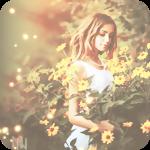 Аватар Девушка среди желтых цветов