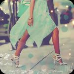 Аватар Девушка в легком бирюзовом платье идет по улице города