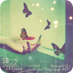 Аватар Большие бабочки кружат у руки девушки