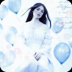 Аватар Девушка в длинном платье среди воздушных шаров