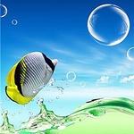 99px.ru аватар Рыба выпрыгивает из зеленого моря в синее небо в окружении пузырей