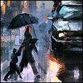 Аватар Люди переходят дорогу в дождливое время