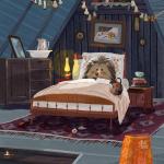 Аватар Ежик лежит в кровате. Художник Ольга Демидова