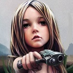 Аватар Маленькая девочка с большой пушкой и серьезными намерениями