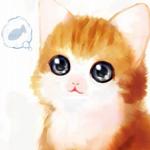 Аватар Рыжий котенок мечтает о рыбке